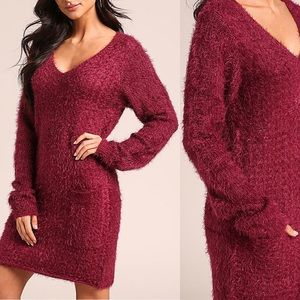 Dresses & Skirts - ➳ Fuzzy Pocket Sweater Dress
